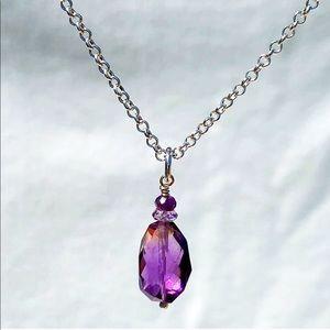 2 LEFT! Genuine Amethyst Pendant Necklace!